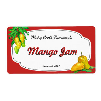 Mango Jam Canning Labels