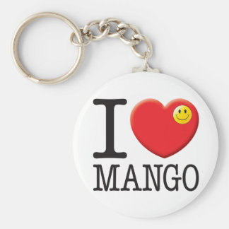 Mango Love Basic Round Button Key Ring