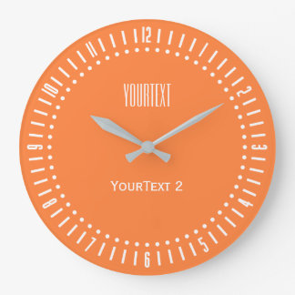 Mango Orange Color Accent Color to Personalize on Clock