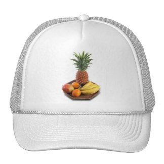 mango passion fruit maracuya banana wooden board a trucker hats