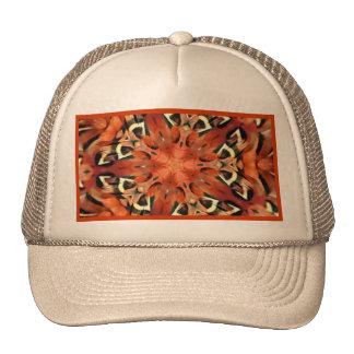 Mango Pheasant Feather Kaleidoscope  Mandala Hats