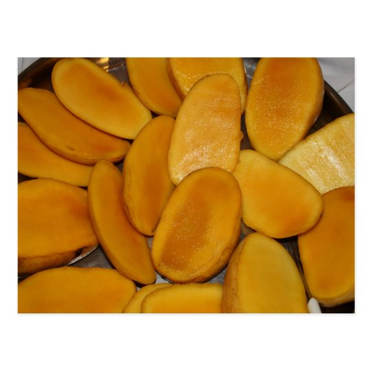 Mango slices postcard