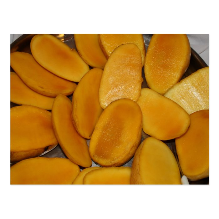 Mango slices postcard