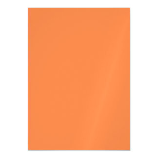 Mango Solid Color Magnetic Invitations