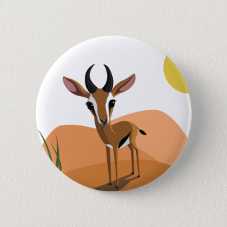 Mango the Gazelle 6 Cm Round Badge