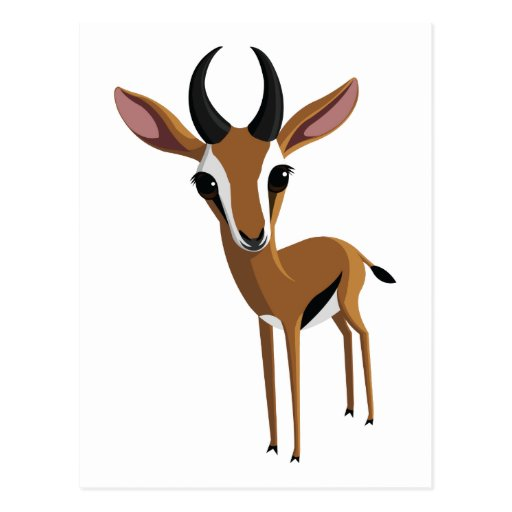 Mango the Gazelle Postcard