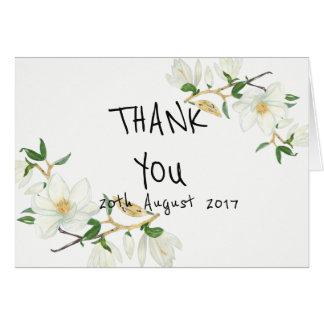 Mangolia Vintage Wedding Thank You Card