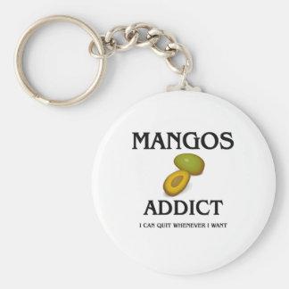 Mangos Addict Basic Round Button Key Ring