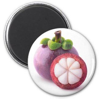 Mangosteen fruits 6 cm round magnet