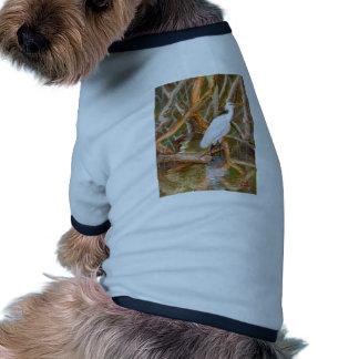 Mangrove Egret No 2 Doggie T Shirt