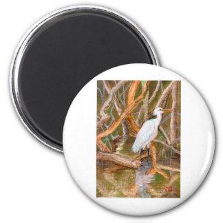 Mangrove Egret No. 2 Fridge Magnet