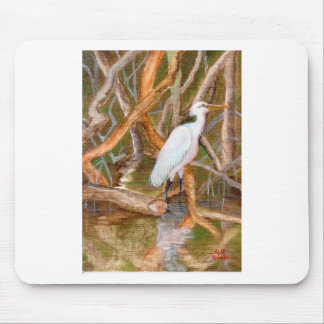 Mangrove Egret No. 2 Mouse Pad