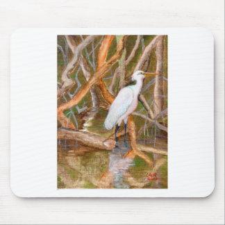 Mangrove Egret No 2 Mouse Pads