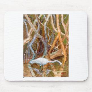 Mangrove Egret No 4 Mousepads