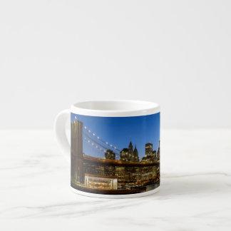 Manhattan and Brooklyn Bridge at dusk Espresso Cup