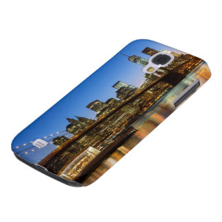Manhattan and Brooklyn Bridge at dusk Galaxy S4 Case
