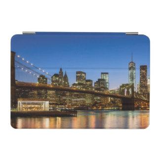 Manhattan and Brooklyn Bridge at dusk iPad Mini Cover