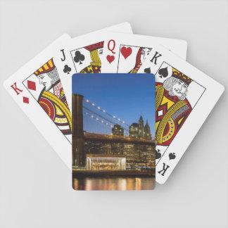 Manhattan and Brooklyn Bridge at dusk Poker Deck