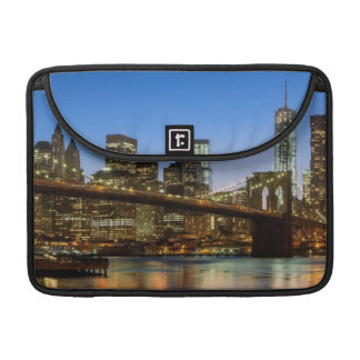 Manhattan and Brooklyn Bridge at dusk Sleeve For MacBooks