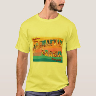 Manhattan Beach New York NY Old Travel Souvenir T-Shirt