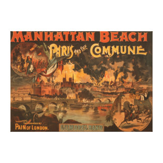 Manhattan Beach - Paris and the Commune Play Canvas Print