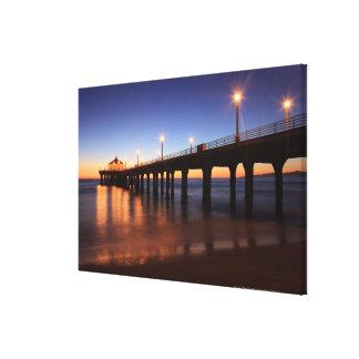 Manhattan Beach Pier at sunset, California Canvas Print
