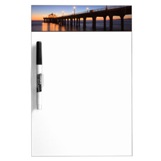 Manhattan Beach Pier at sunset, California Dry Erase Board