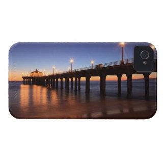 Manhattan Beach Pier at sunset, California iPhone 4 Case-Mate Cases
