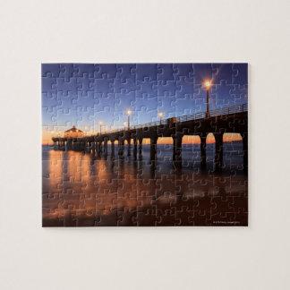 Manhattan Beach Pier at sunset, California Jigsaw Puzzle