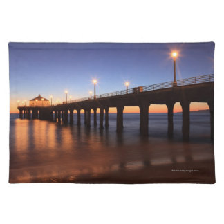 Manhattan Beach Pier at sunset, California Placemat