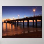 Manhattan Beach Pier at sunset, California Poster