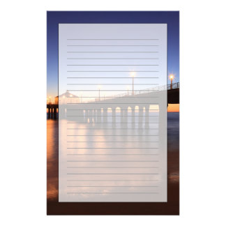 Manhattan Beach Pier at sunset, California Stationery