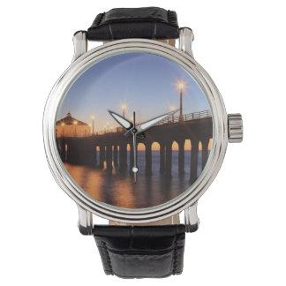 Manhattan Beach Pier at sunset, California Watch