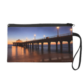 Manhattan Beach Pier at sunset, California Wristlet
