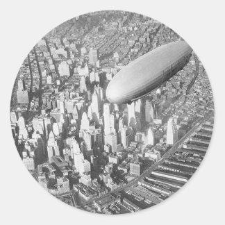 Manhattan Blimp Classic Round Sticker