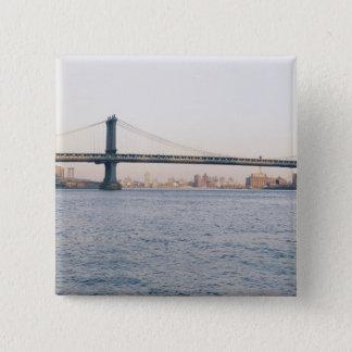 Manhattan Bridge 15 Cm Square Badge