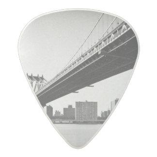 Manhattan Bridge and skyline, New York, US. Acetal Guitar Pick