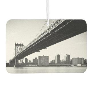 Manhattan Bridge and skyline, New York, US. Car Air Freshener