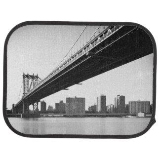Manhattan Bridge and skyline, New York, US. Car Mat