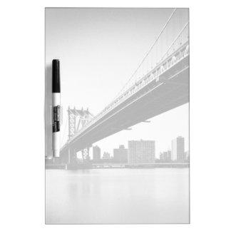 Manhattan Bridge and skyline, New York, US. Dry Erase Board