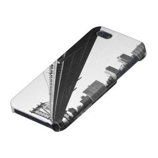 Manhattan Bridge and skyline, New York, US. iPhone 5 Cover