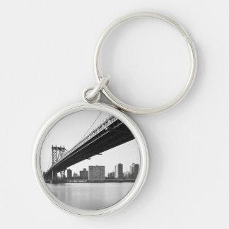 Manhattan Bridge and skyline, New York, US. Key Ring