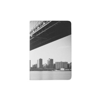 Manhattan Bridge and skyline, New York, US. Passport Holder