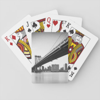 Manhattan Bridge and skyline, New York, US. Poker Deck