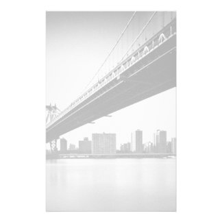 Manhattan Bridge and skyline, New York, US. Stationery