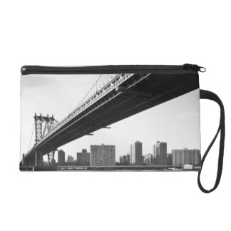 Manhattan Bridge and skyline, New York, US. Wristlet