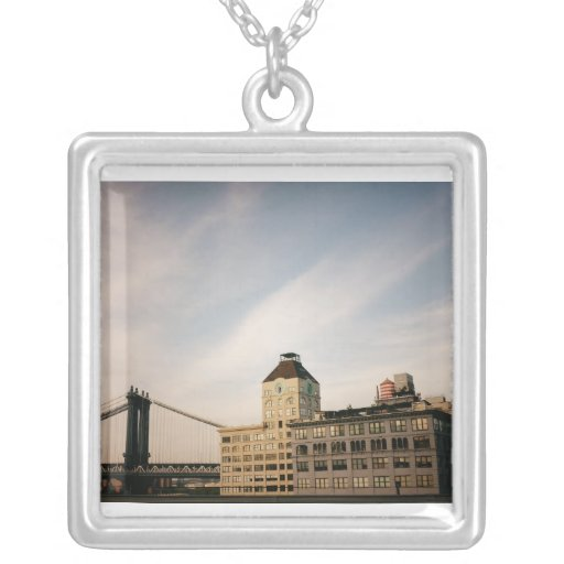 Manhattan Bridge As Seen From Dumbo,Brooklyn Personalized Necklace