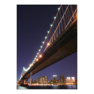 Manhattan Bridge At Night, New York City Custom Invitations