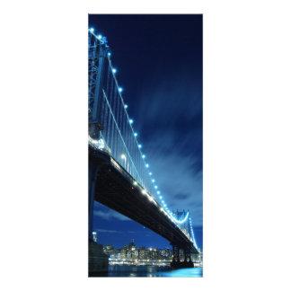 Manhattan Bridge At Night New York City Personalized Announcement