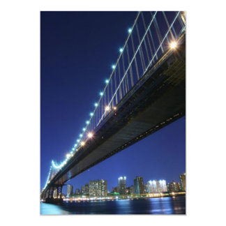 Manhattan Bridge At Night, New York City Announcement